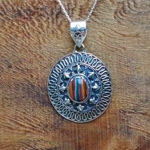 Jewelry - Striated Calsilica Pendent